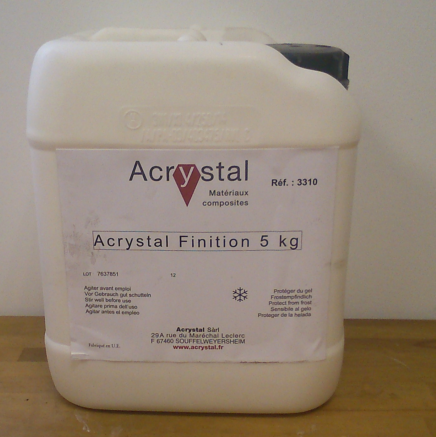 Resines acrystal sf composites resines acrystal moulage for Finition exterieur